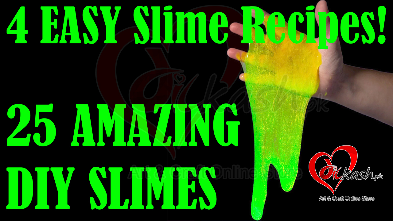 MAKING 25 AMAZING DIY SLIMES - Four EASY Slime Recipes